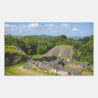 Xunantunich Mayaruine in Belize Rechteckiger Aufkleber