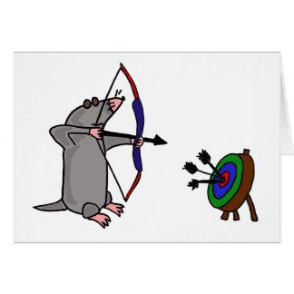 XX blinde Mole im Bogenschießen-Wettbewerb Karte