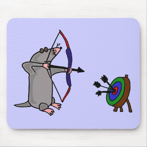 XX blinde Mole im Bogenschießen-Wettbewerb Mousepad