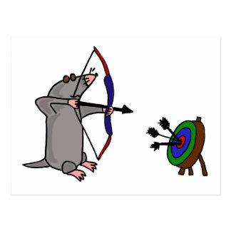 XX blinde Mole im Bogenschießen-Wettbewerb Postkarte