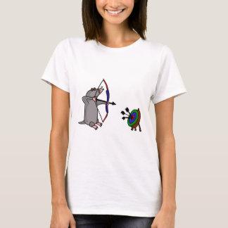 XX blinde Mole im Bogenschießen-Wettbewerb T-Shirt