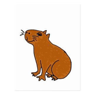 XX Capybara-Kunst Postkarte