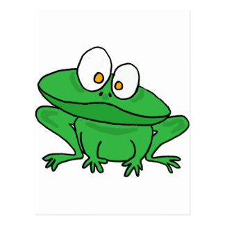 XX doof Frosch Postkarte