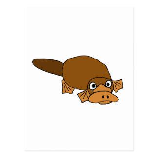 XX Ente berechneter Platypus Cartoon Postkarte