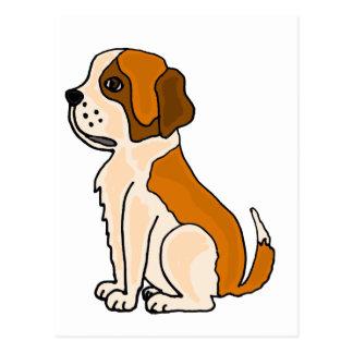 XX entzückender Bernhardiner-Welpen-HundeCartoon Postkarte