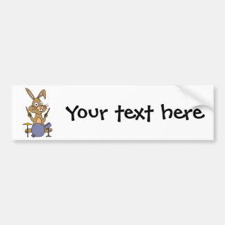 XX fantastisches Häschen-Kaninchen, das Trommeln Autoaufkleber