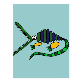 XX flippige Krokodil-Kunst Postkarte