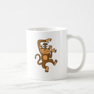 XX glücklicher Tanzen-Affe Kaffeetasse