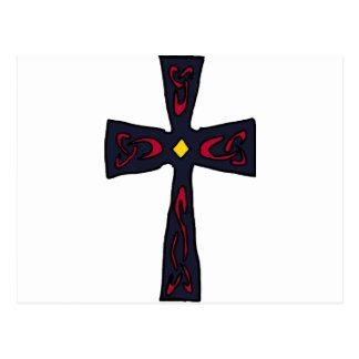 XX keltisches Kreuz Postkarte