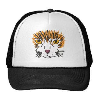 XX künstlerisches Katzen-Gesicht Retrokultmütze