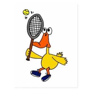 XX lustige Ente, die Tennis spielt Postkarten
