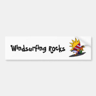 XX lustige Enten-Windsurfing Cartoon Autoaufkleber