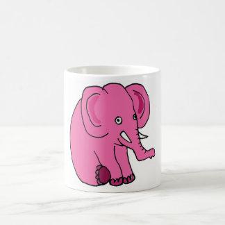 XX lustiger rosa Elefant Kaffeetasse
