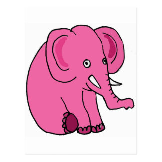 XX lustiger rosa Elefant Postkarte
