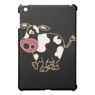 XX lustiger schwarzer Kuh-Cartoon Hüllen Für iPad Mini