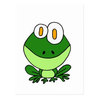 XX lustiger Sitzen-grüner Frosch-Cartoon Postkarte