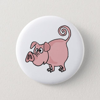 XX niedlicher lustiger rosa Schwein-Cartoon Runder Button 5,7 Cm