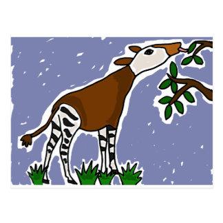 XX Okapi-Kunst-Cartoon Postkarte