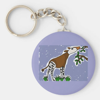 XX Okapi-Kunst-Cartoon Schlüsselanhänger