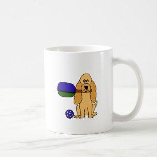 XX Pickleball Cockerspaniel-Cartoon Kaffeetasse