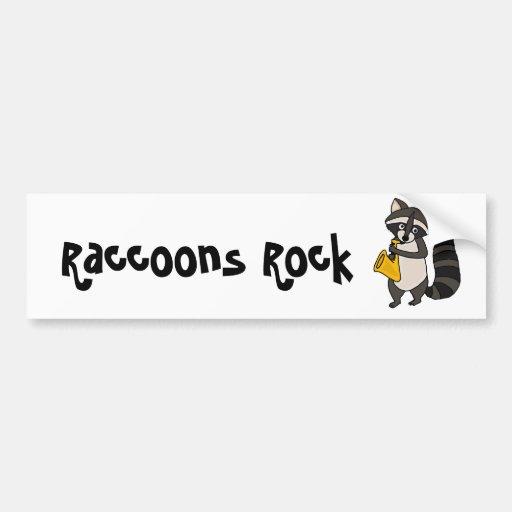 XX Raccoon, der Saxophone-Cartoon spielt Auto Sticker