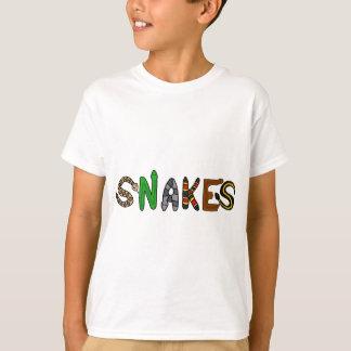 XX Schlangen-Buchstabe-Kunst T-Shirt