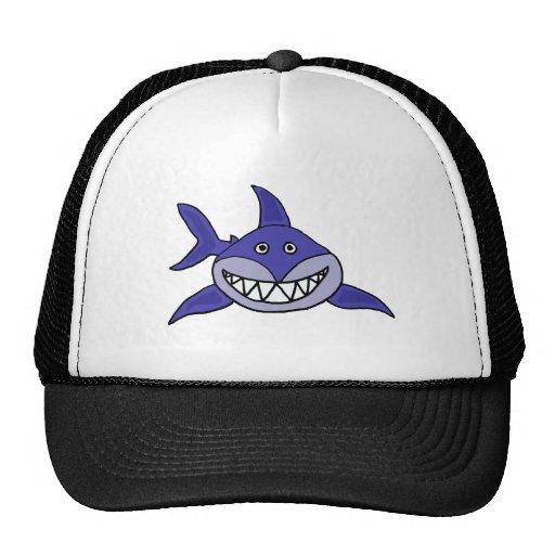 XX unglaublich witzig grinsender Haifisch-Cartoon Baseball Cap
