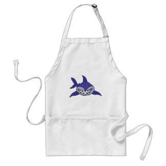 XX unglaublich witzig grinsender Haifisch-Cartoon Schürze