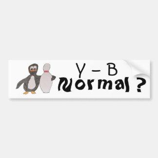 Y - B, normal? Autoaufkleber
