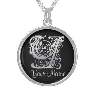 Y-Initiale mit Ihrer Namenshalskette Sterling Silberkette