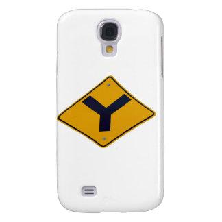 Y-Kreuzungs-Gelb-Wegweiser Galaxy S4 Hülle