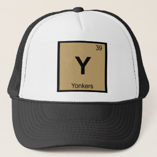 Y - Yonkers New York Chemie-Periodensystem-Stadt Truckerkappe