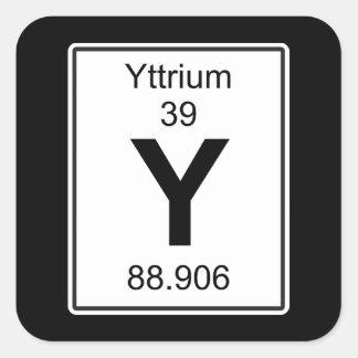 Y - Yttrium Quadratischer Aufkleber