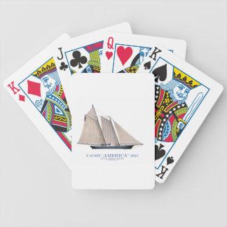 Yacht Amerika 1851 Bicycle Spielkarten