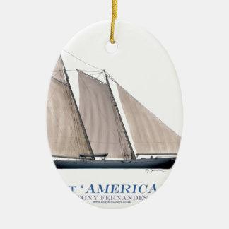 Yacht Amerika 1851 Keramik Ornament