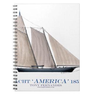 Yacht Amerika 1851 Notizblock
