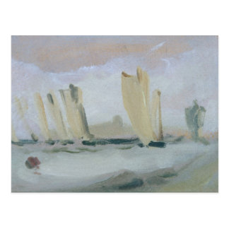 Yacht das Laufen auf dem Solent, vorher Postkarte