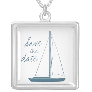 Yacht-Hochzeit Halskette Mit Quadratischem Anhänger