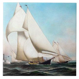Yacht-Regatta-Meere, die Ozean-Fliese segeln Fliese