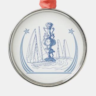 Yacht-Verein-laufendes Trophäe-Schalen-Zeichnen Silbernes Ornament