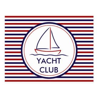 Yachtclub Postkarte