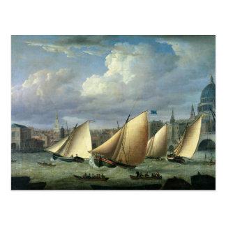 Yachten des Cumberland-Flottenbeginnens Postkarte