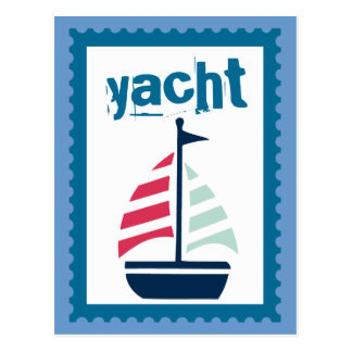 Yachting - Bootfahrt-Segeln-Segel-Boot Postkarte