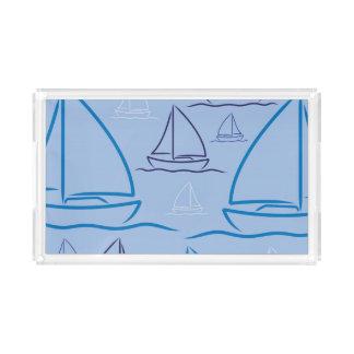 Yachtmuster Acryl Tablett
