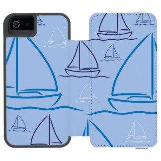 Yachtmuster Incipio Watson™ iPhone 5 Geldbörsen Hülle