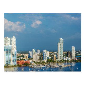 Yachts and Modern Cartagena Postkarte