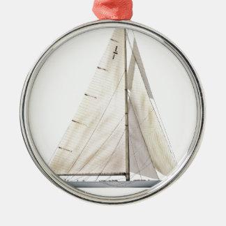 Yachtunternehmen 1930 silbernes ornament