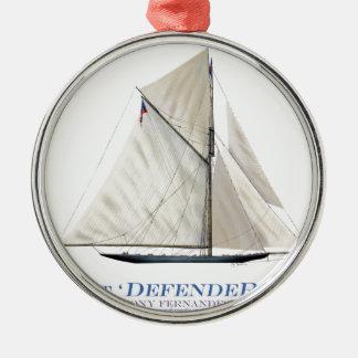 Yachtverteidiger 1895 silbernes ornament