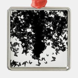 yaie schwarze Schmetterlinge Silbernes Ornament