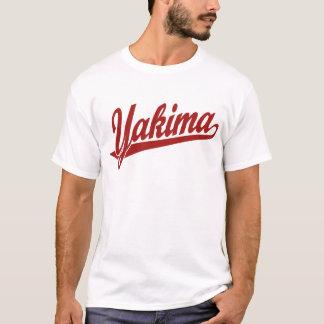 Yakima Skriptlogo im Rot T-Shirt